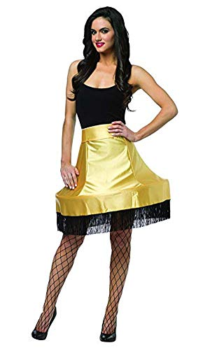 Rasta Imposta Women's Christmas Story Leg Lamp Skirt, Black/Gold, One Size (Leg Costume One Story Christmas)