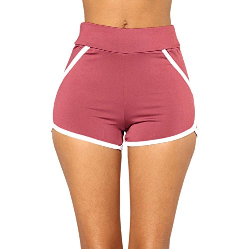 Jushye Clearance!!! Women's Yoga Sport Shorts, Ladies Summer Running Pants Cropped Leggings Short Pant Stretch Trousers (A, XL)