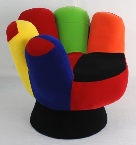 Charming LumiSource Cool Mitt Chair For Shorter Tweens (Multi Colored)