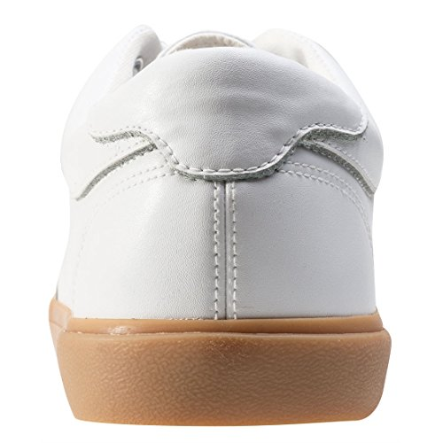 T Basses Sole Gum Leath Baskets Gum Creeper K Sneaker U White Mixte WHT VLK Adulte rB4wrq
