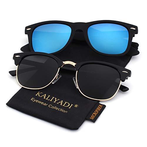 Unisex Polarized Retro Classic Trendy Stylish Sunglasses for Men Women Driving Sun glasses:100% UV Blocking -