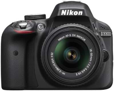 Nikon D3300 1532 18-55mm f/3.5-5.6G VR II Auto Focus-S DX NIKKOR Zoom Lens 24.2 MP Digital SLR – Black
