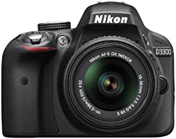 Nikon D3300  18 - 55mm f/3 5 -5.6 G VR II DSLR Cámara DX DSLR Color Negro
