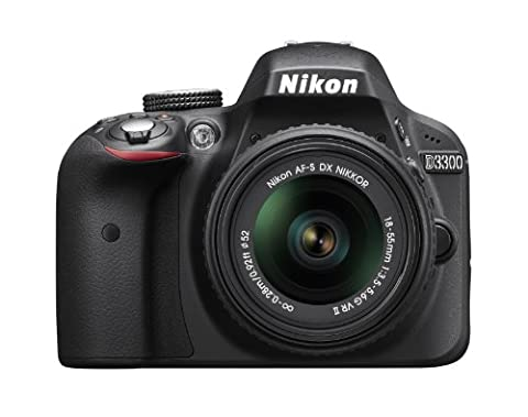 Nikon D3300 1532 18-55mm f/3.5-5.6G VR II Auto Focus-S DX NIKKOR Zoom Lens 24.2 MP Digital SLR – (Nixon D3200 Wireless Adapter)