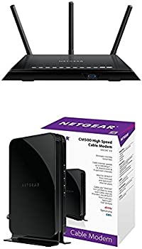 Netgear AC1750 Smart Dual Band WiFi Router + Cable Modem (CM500)