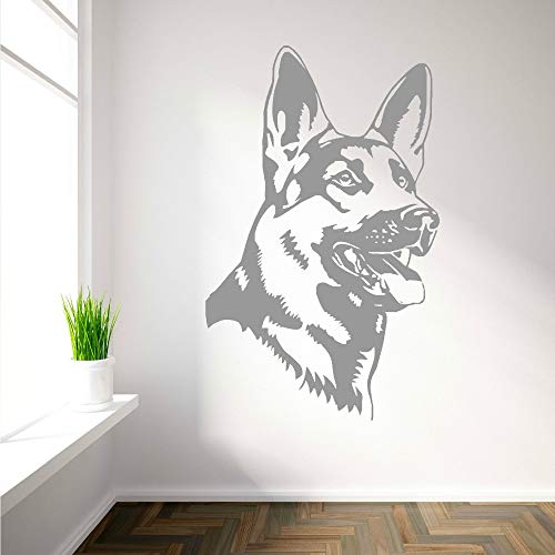 (pabear Vinyl Decal Quote Art Wall Sticker Inspirational Quotes German Shepherd Alsation Dog Home Decoration Room Home Art)