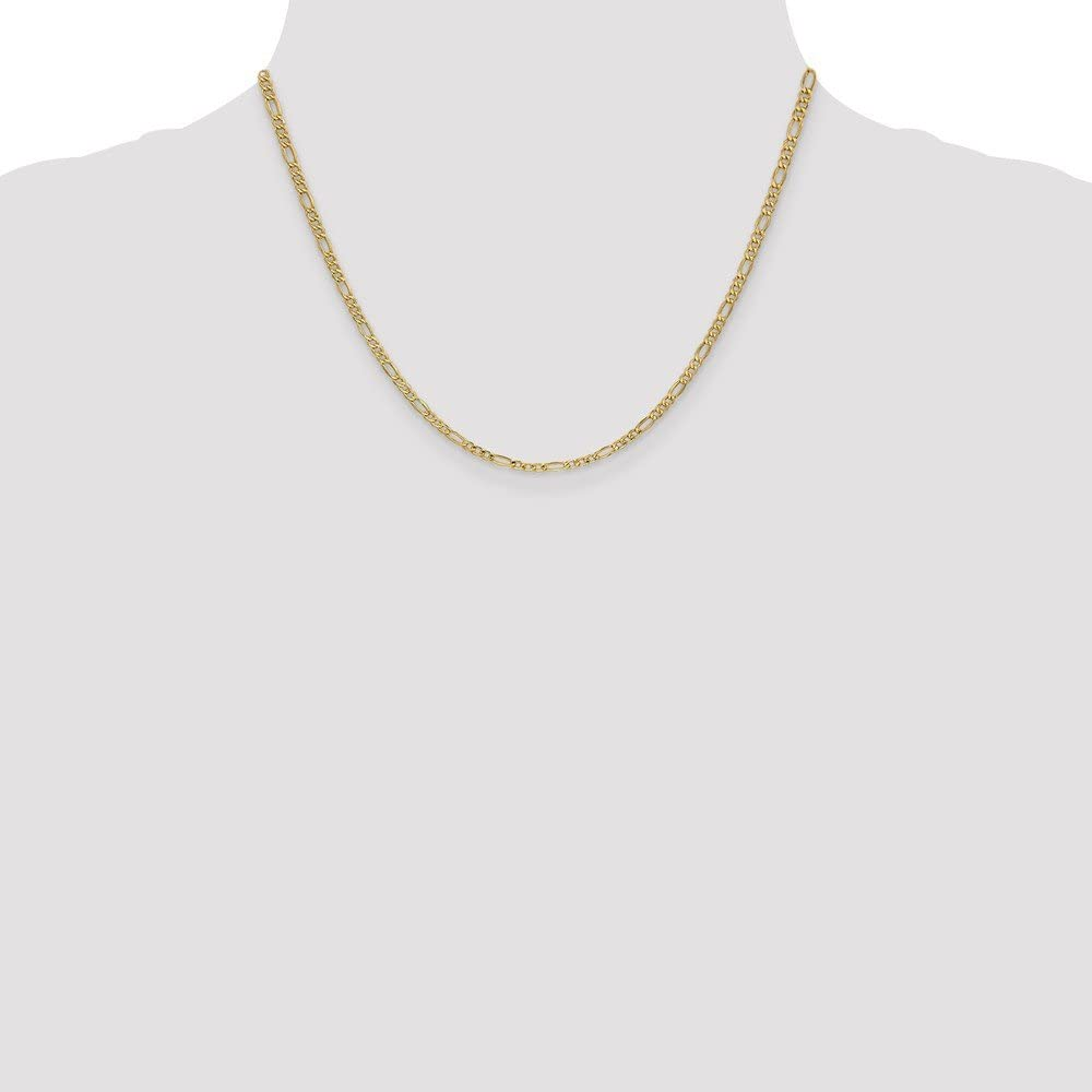 14k Yellow Gold 2.5mm Figaro Chain Necklace 2.63g