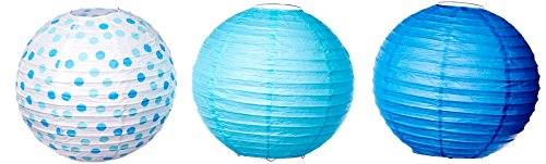 "Amscan Baby Round Party Paper Lantern, 9-1/2"", Blue"
