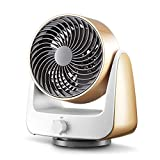 OR&DK 6'' Desktop Fan Mini Fan Strong Driving Force Circulating Air 3-speed Ultra-quiet-Golden