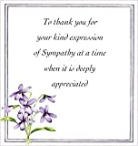 Floral thank you sympathy cards - pack of 10 by Jean Barrington