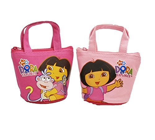 Granny's (c) Nickedoleon Dora the Explorer Pretend Play 2 Pieces of Coin Purses Bags-Dora Mini Coin Purse - 2 Bags - Dora The Explorer Costume Makeup