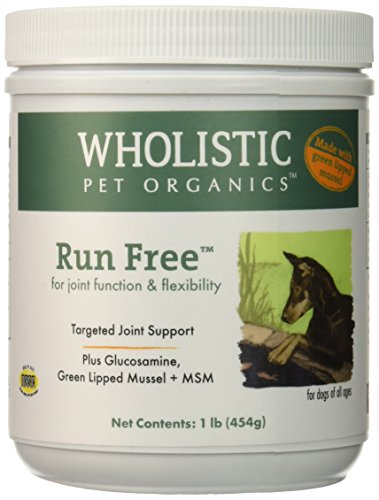 Wholistic Pet Organics Run Free with Green Lipped Muscle Supplement, 1 lb by Wholistic Pet Organics