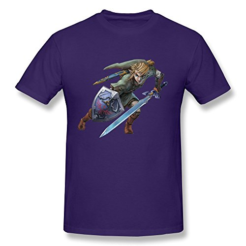 ZZY Cute Zelda Magic Swords T-shirt - Men's Tshirts Purple Size M