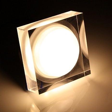 6 W lámpara LED lámpara de techo empotrable cuadrada LED de ...
