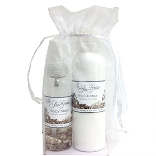 Sprinkles Gifts Kiss Me in the Sea Garden New 2 PC gift set 4 oz body lotion + a 2 oz body mist with shells Waterlily Lotus Flower scent
