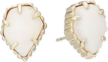 Kendra Scott Signature Tessa Stud Earring in White Mother of Pearl and Gold Plated