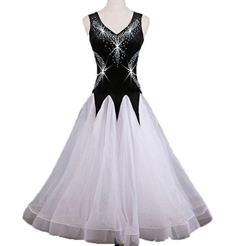 Swing Ballo Competizione Grande Professionale Tango Wqwlf Vestito m S Sala White Donne Di Da Abiti Moderni Costumi Prestazione Per Strass atwqf