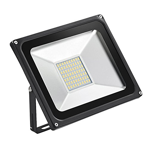 Missbee 50W Super Bright Outdoor LED Flood Lights, SMD Landscape Spotlight, 5500lm,150W HPS Bulb Equivalent, 6000-6500K, IP65 Waterproof, Security Lights,Energy-saving lamps (Warm White)