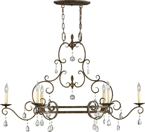 Feiss F2304/6MBZ Chateau Crystal Candle Chandelier Lighting, Bronze, 6-Light (22