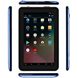 Haehne 7 Inches Tablet PC - Google Android 5.1 Quad Core, 1024600 TN Screen, 2.0MP 0.3MP Dual Camera, 1G RAM 8GB ROM, 2800mAh, WiFi (Blue)