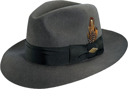 1950s Men's Clothing Stacy Adams Mens Wool Felt Feather Fedora Hat £60.10 AT vintagedancer.com