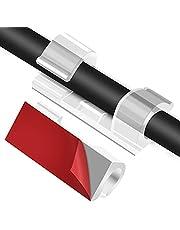 URAQT Kabelklemmen, 30 Stuks Zelfklevende Draadklemmen Kabelbeheer, Transparante Kabelhouder, Draadsnoer Organizer, Geschikt voor Kabel Binnen 7 mm/0,28 inch Diameter