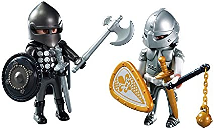 PLAYMOBIL Duo Pack- Knights Rivalry Duo Pack Figura con Accesorios, Multicolor (6847): Amazon.es: Juguetes y juegos