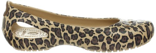 Femme Leopard black gold Or Crocs Ballerines Kadee w1xTq66f