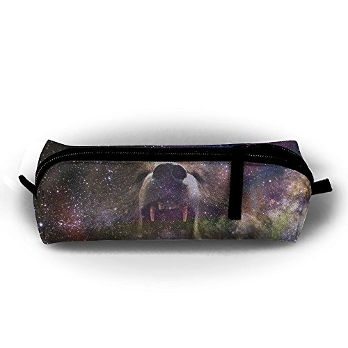 Bear Into Space Unisex Pen Bag Zipper Cosmetic Bags Cylindrical ()