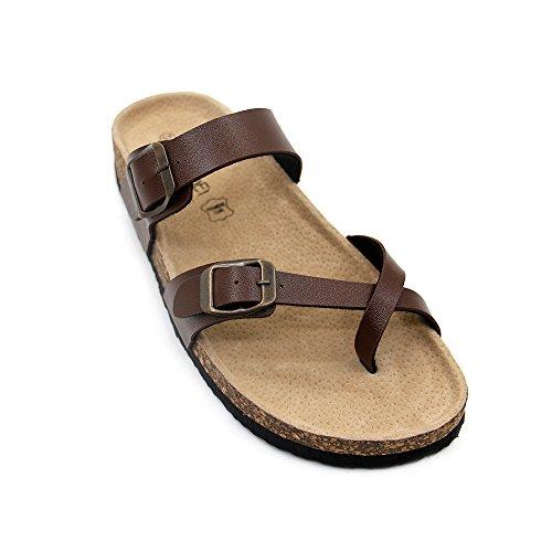 JOURNEI Strap Flat Sandals Slides Adjustable Slippers for Women Girls Men