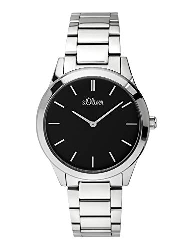 s.Oliver Time Womens Analogue Quartz Watch with Stainless Steel Strap SO-3598-MQ