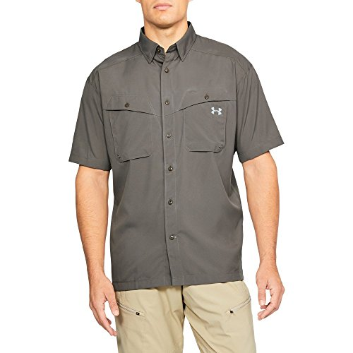 Under Armour Outerwear Men's Tide Chaser Short Sleeve Shirt, Fresh Clay/Steel, Large