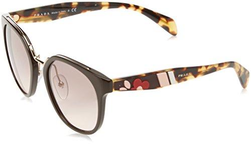 Prada Women's 0PR 17TS Brown/Flowers/Pink Gradient Grey - Pink Frames Glasses Prada