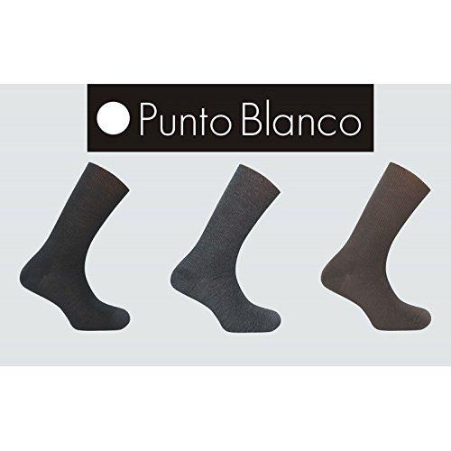 Punto Blanco - Calcetines Hombre Diabéticos 100% Lana Antialérgica: Amazon.es: Ropa y accesorios