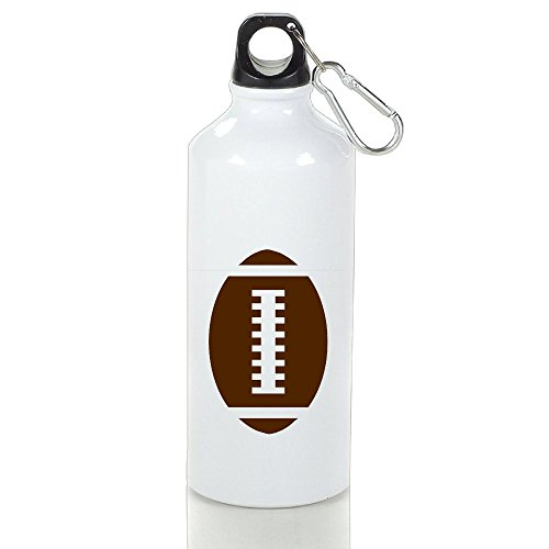 Xihuan FOOTBALL BABY Gray Front Football Graphic Aluminum Outdoor Sports Bottle Perfect For Tour Bottle White 400ml (Dallas Cowboys Cross Gloves)