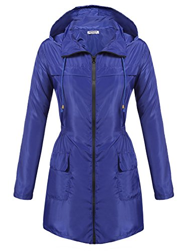 HOTOUCH Women Lightweight Jacket UV Protect+Quick Dry Windproof Skin Coat Blue S by Hotouch