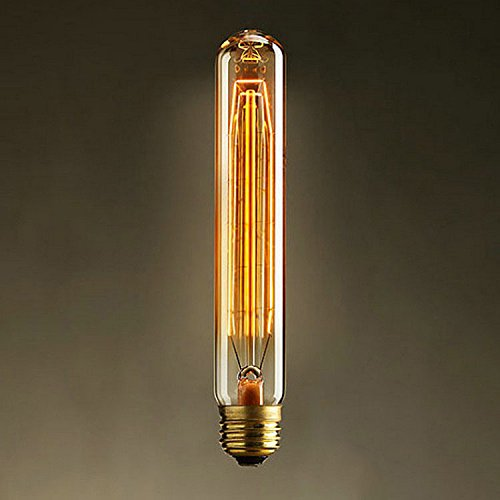 1 Pack Y-Nut Edison Style Filament T30 T225 Bulb, 9'' (22.5 cm) 40W 2700K Warm White, Vintage Style Long Edison Bulb Tube Shape
