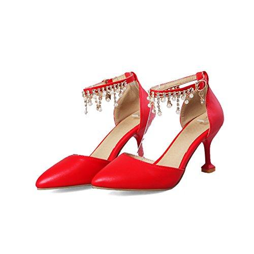 sandalias bridal de boda Zapatos femenino huecos talón alto red para grandes g8TwwA