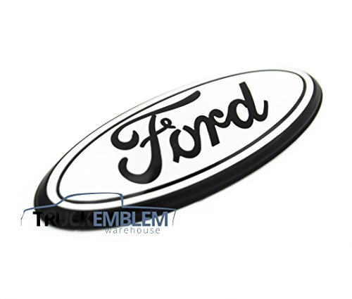 Foxxi F-7MB 7 x 2.8 Matte Black Escape Excursion Expedition Freestyle F-150 F-250 F350 Grille Tailgate Emblem Oval Decal Badge Nameplate