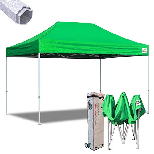 Eurmax New 10×15 Ft Premium Ez Pop up Canopy Instant Shelter Outdoor Party Tent Gazebo Commercial Grade Bonus Roller Bag(Kelly Green) Review