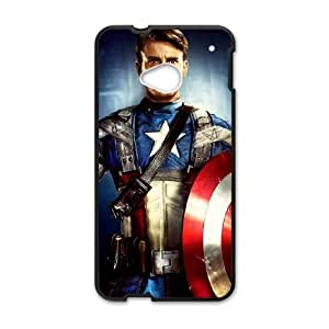 Captain Americ HTC One M7 Cell Phone Case Black gift pp001_9456615