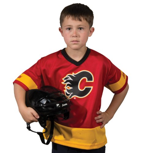 Franklin Sports NHL Calgary Flames Youth Team Uniform Set - Calgary Flames Hockey Jersey