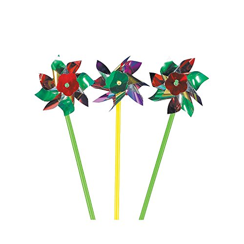Fun Express Metallic Pinwheels - 72 Pieces by Fun Express