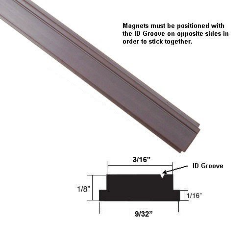 Flexible Magnetic Strip Insert for Framed Swing Shower Doors - 84