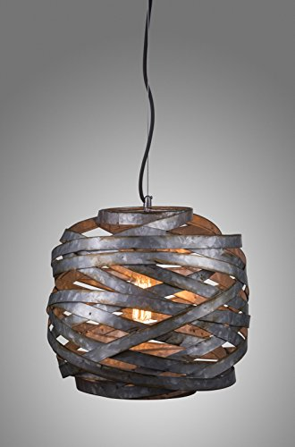 LightLady Studio Farmhouse Lighting Industrial Pendant Lighting -This One Covers It All, Farmhouse Chandelier Cage Pendant Light, Industrial Chic Urban Farmhouse Meets Modern Contemporary Loft Style