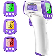 Forehead Thermometer, Non-Contact Infrared Thermometer for Adult, Kids, Baby, Instant Accurate Reading and Fever Alarm, Memory Recall, °F/°C