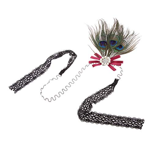 New Arrival Women Head Piece Hairwear Flapper Peacock Feather Party Headband -