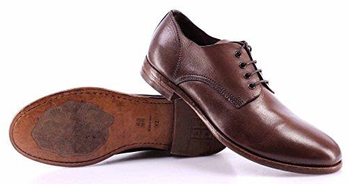 Zapatos Hombre MOMA 17501-1L Albino Vintage Cuero Marròn Made In Italy Nuevo