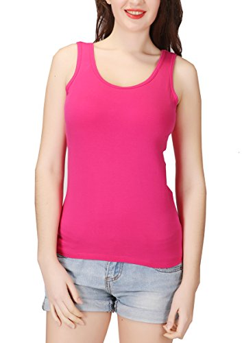 Lashapear Womens Modal Camisole Built in Shelf Bra Padded Tank Top Solid Color Yoga Tanks Tops, Hotpink, Tag3XL(US ()