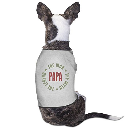 Skkoka Fashion Sleeveless Pet Supplies Dog Cat Clothes Papa Man Myth Legend Pet Apparel Clothing M -
